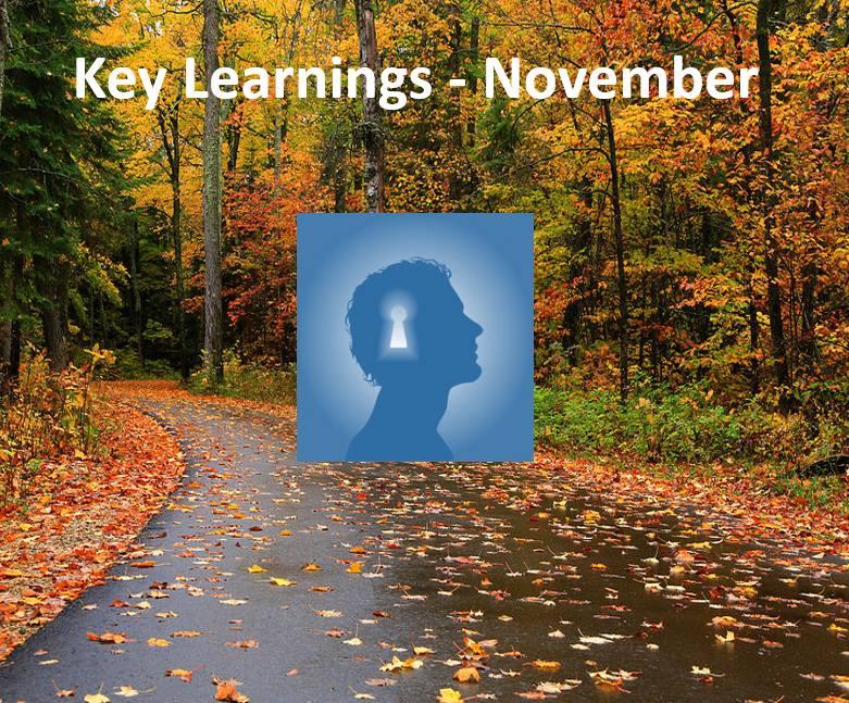 Κey Learnings: November 2018
