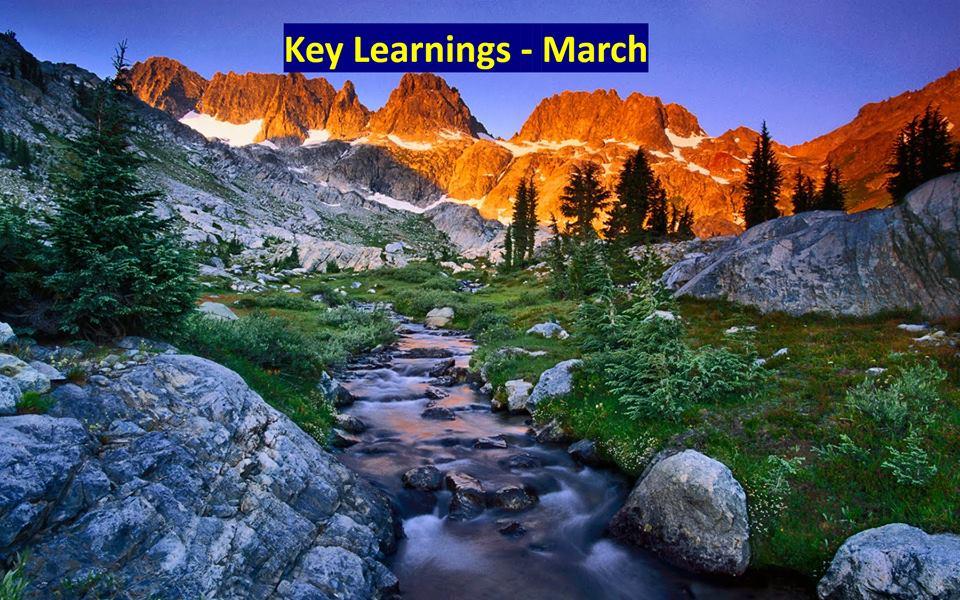Key Learnings: March 2019