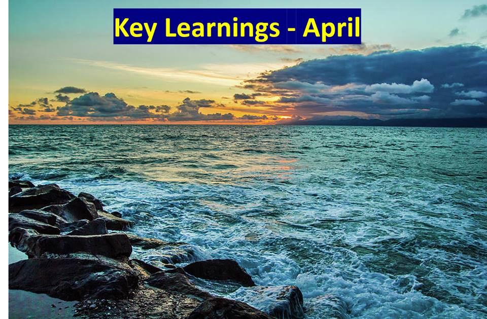 Key Learnings – April 2019