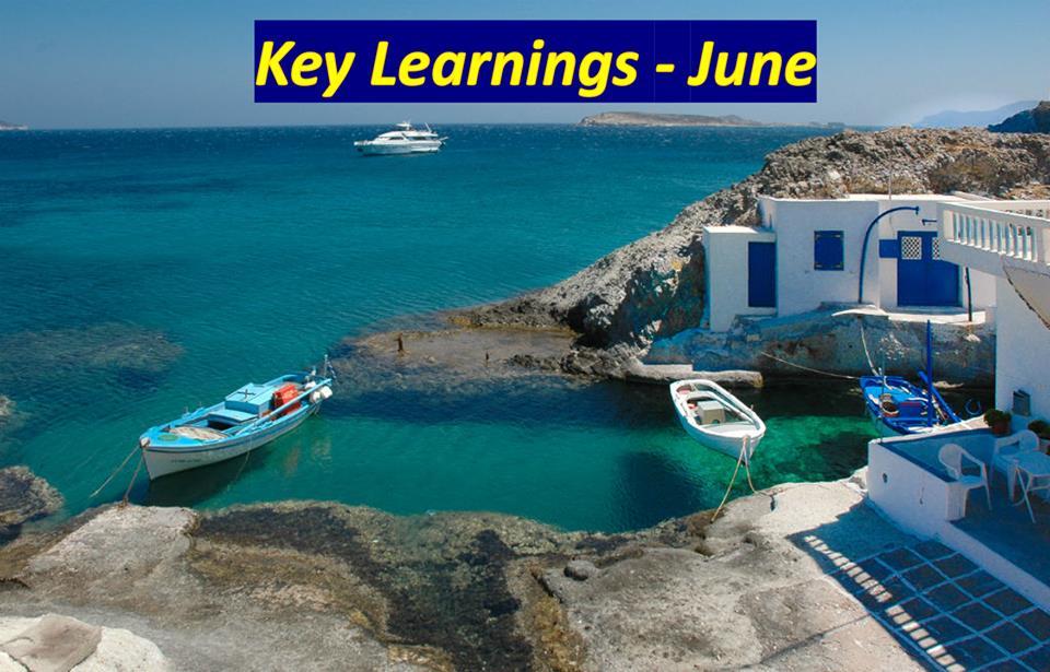 Key Learnings – June 2019