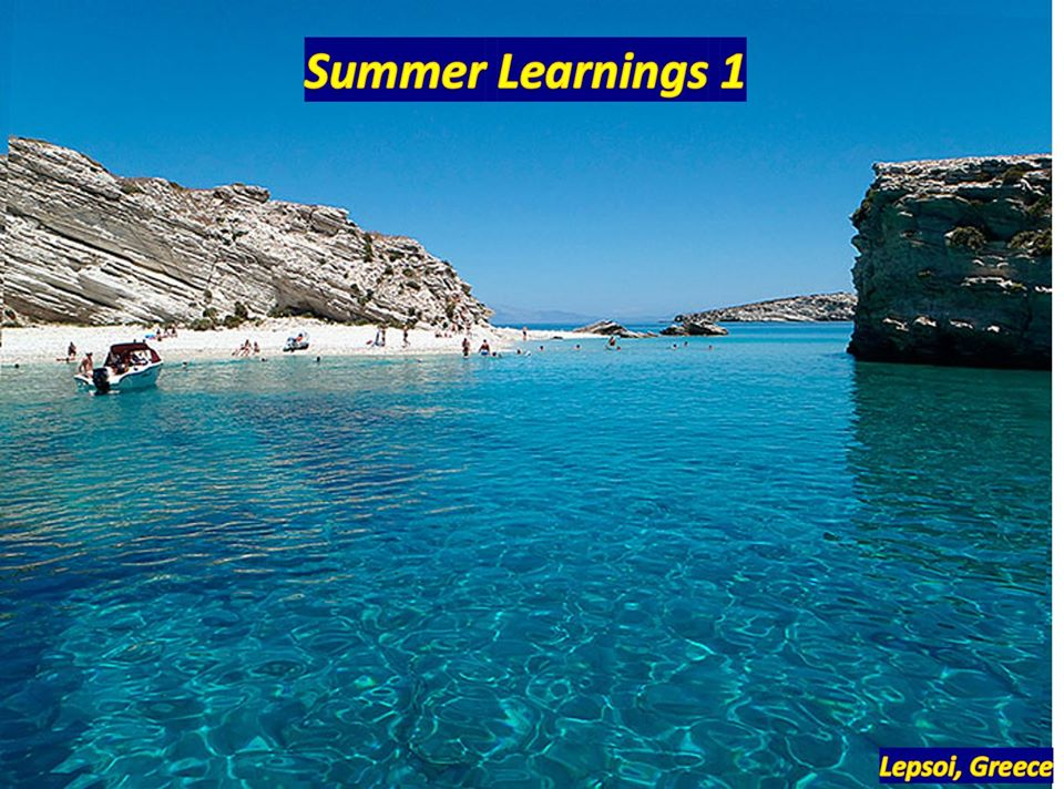 Q-Mind Summer Learnings 1