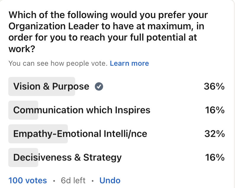 A Different Poll about Leadership